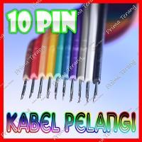 Kabel Pelangi 10 Pin Flat Pita 10 Jalur Rainbow Cable