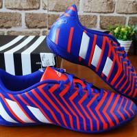 Sepatu futsal Adidas Predator Instinct IN Blue/Orange Murah Terbaru