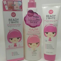 1 set CATHY DOLL READY 2 WHITE BODY LOTION + BODY CLEANSER