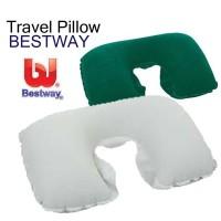 bantal angin tiup udara pompa travel air pillow leher neck bestway