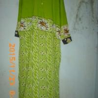 Daster batik lengan panjang/ baju tidur batik longdress