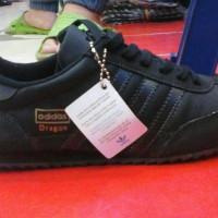 paling murah sepatu adidas dragon full black 36-44 size + box