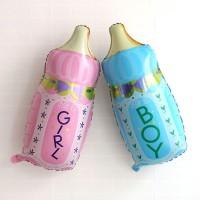 balon foil botol susu ballon milk pink blue baby shower party