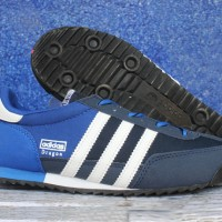 Sepatu Casual Adidas Dragon Biru Hitam