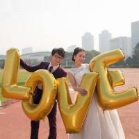 Balon foil huruf LOVE jumbo uk 100 cm set