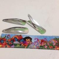 Jepit rambut polos hairclip 4,5cm metal besi bahan material craft