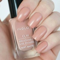 Inglot Soft Matte no 503 - Kutek Halal O2M Breathable Nail Polish