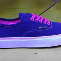 sepatu vans loli pop biru lis pink murah + box