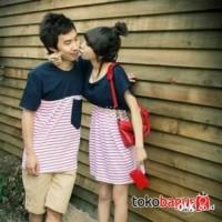 DRESS COUPLE KISS ME, PASANGAN, BAJU, KAOS, JAKET, KEMEJA, KOREA, MAXI