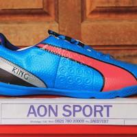 Jual Sepatu Futsal Puma King Biru Pink Grade Ori New 2015-2016 Murah