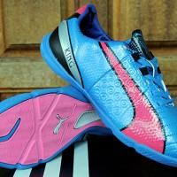 Sepatu Futsal Puma King Biru Pink Grade Ori (futsal,puma,murah,new)
