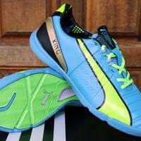 Sepatu Futsal Puma King Biru Hijau Grade Ori(Bola,murah,Adidas,futsal,
