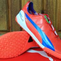 Sepatu Futsal Puma evoSPEED Merah Hijau Grade Ori(Bola,futsal,Adida