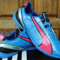 Sepatu Futsal Puma King Biru Pink Grade Ori Murah Terbaru