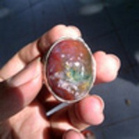 batu akik lumut suliki pancawarna garut hijau merah putih kuning (mura