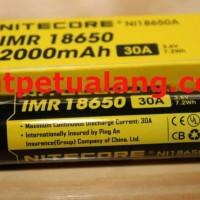 Baterai IMR 18650 Nitecore 2000 mAh Flat Top untuk vape [ASLI]