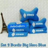 Bantal Mobil 3 in 1 Bordir BIG HERO 6 Blue BAYMAX