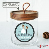 souvenir pernikahan label sticker wedding terima kasih bridal WEDPC064