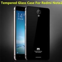 CASING METAL ALUMUNIUM XIAOMI REDMI NOTE 2 TEMPERED GLASS BACK CASE