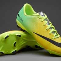 Sepatu Bola Nike Mercurial Victory IV FG Original Kuning/Hijau