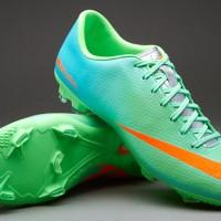 Sepatu Bola Nike Mercurial Victory IV FG Original Hijau/Orange