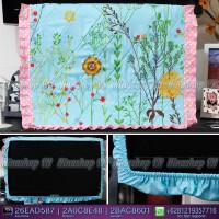 Cover TV,bando TV,Tutup TV LED/LCD motif Garden Flower