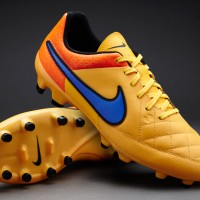 Sepatu Bola Nike Tiempo Genio Leather FG Laser Orange/Violet Original
