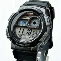 jam tangan casio AE-1000W-1AVDF hitam silver