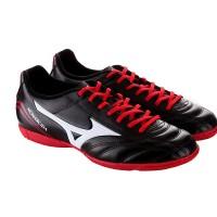 Sepatu Futsal MIZUNO P1GF152396MONARCIDA FS IN (WIDE) - BLACK/WHITE/R