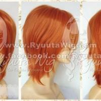 R06 pumpkin orange | Wig laki cowo pendek korea cosplay