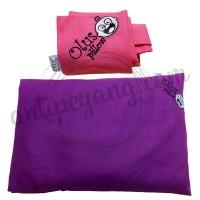 Olus Pillow Ungu Tua & Sarung Extra Pink