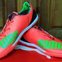 Sepatu Futsal Puma EvoSPEED Merah Hijau Grade Ori Terbaru 2015 Murah