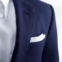 (Pocket Square) White Linen