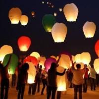 Lampion  terbang sky lantern lentera new year tahun baru