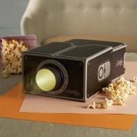 proyektor mini-Portable Cardboard Smartphone Projector 2.0 - Brown