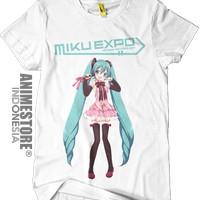 Baju Kaos Vocaloid Hatsune Miku Expo 2014 Indonesia