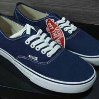 sepatu vans authentic biru dongker +box