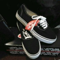 sepatu vans authentic hitam sol putih grosir ecer