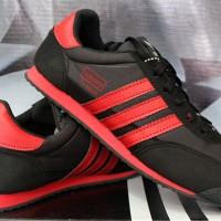 sepatu casual,sepatu lari,Adidas Dragon Hitam Strip Merah