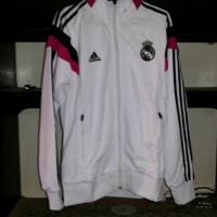 Jaket Real Madrid Training Grade Ori Putih