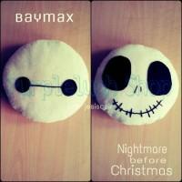 Boneka Bantal Baymax / Nightmare Before Christmas 25 cm