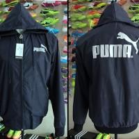 Jaket Puma Navy Putih Parasut(jaket parasut,sporty,casual,olahraga)