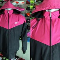Jaket Nike Pink Hitam Parasut