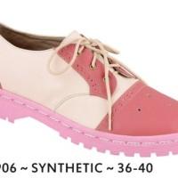 Sepatu Docmart Wanita Pink Synthetic Simple JK Collection JLN 1906