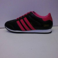 sepatu adidas italy hitam strip pink