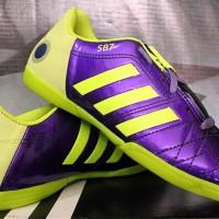 sepatu futsal Adidas Adipure 11 Pro Ungu Hijau