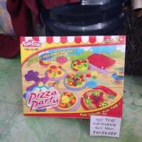 Playdough Fun Doh Pizza Party - play dough - Lilin mainan - Malam