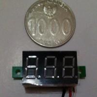 MINI VOLTMETER DIGITAL 0-100VDC variasi motor & power supply adaptor