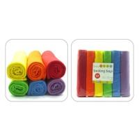 Baby Chaz Bedong Rainbow (Isi 6)/Selimut Bayi/Bedongan Bayi/Alas Bayi