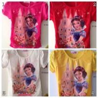 Blus / Kaos / Baju Atas Anak Motif Putri Salju (Snow White) Import